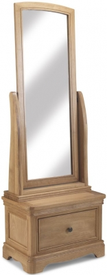 Georgina Natural Oak Sleigh Cheval Mirror - 60cm x 166cm