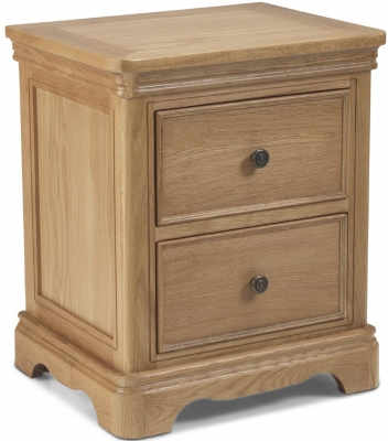 Georgina Natural Oak Bedside Cabinet
