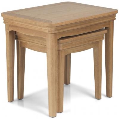 Georgina Natural Oak Nest of Tables