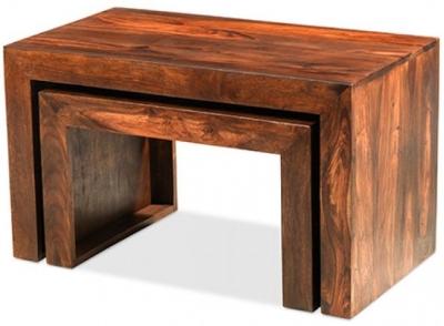 Kuba Sheesham Nest of 2 Tables