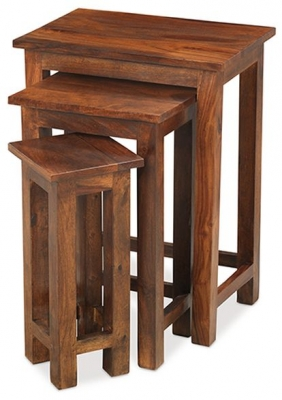Mica Sheesham Chunky Nest of Tables