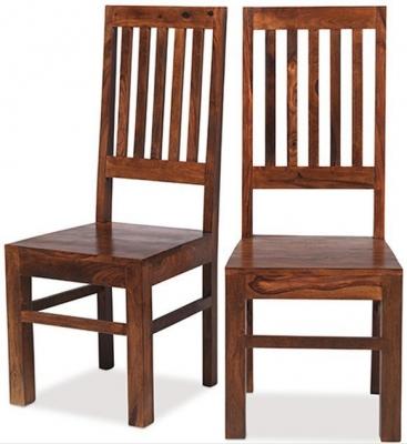 Mica Sheesham Dining Chair (Pair)