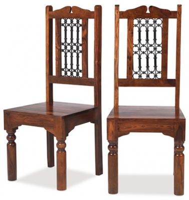 Mica Sheesham High Back Chair (Pair)