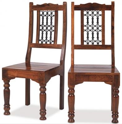 Mica Sheesham Low Back Chair (Pair)