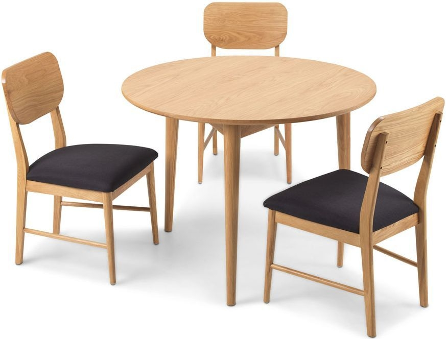 Buy Skean Oak Round Dining Table And Chairs The Furn Shop