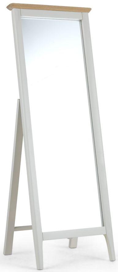 Stanford Grey Painted Rectangular Cheval Mirror - 53cm x 147cm