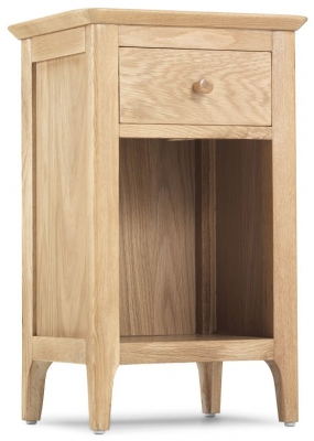 Wadsworth Oak 1 Drawer Bedside Cabinet