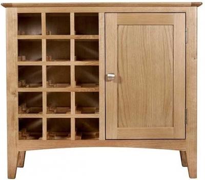 Lowell Natural Oak Wine Cabinet