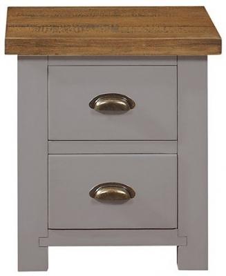 Regatta Grey Painted 2 Drawer Bedside Cabinet