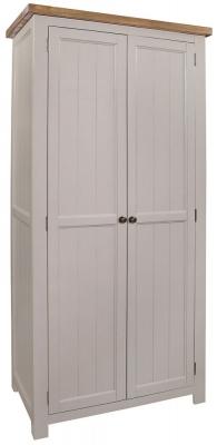 Regatta Grey Painted 2 Door Wardrobe