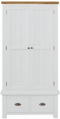 Regatta White Painted 2 Door 2 Drawer Wardrobe