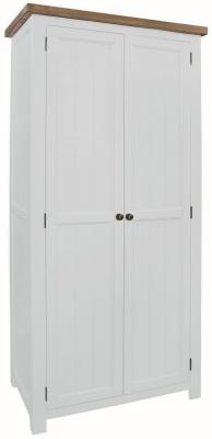 Regatta White Painted 2 Door Wardrobe
