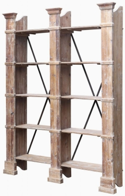 Renton Industrial Old Pine Double Shelf