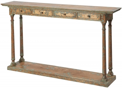 Renton Oak Narrow Console Table