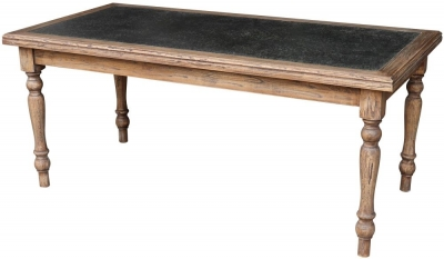 Renton Zinc Top Large Dining Table