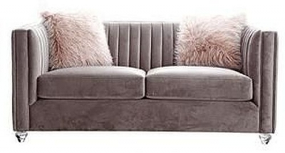 Cielo Pink 2 Seater Fabric Sofa