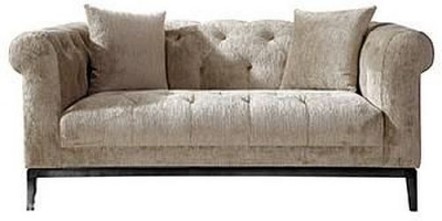 Edwin Tufted 2 Seater Fabric Sofa