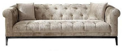 Edwin Tufted 3 Seater Fabric Sofa