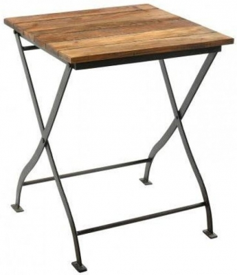 Industrial Forged Steel and Wood Table