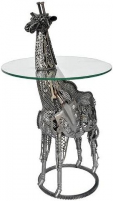 Metal Art Wrought Iron Giraffe Bar Table
