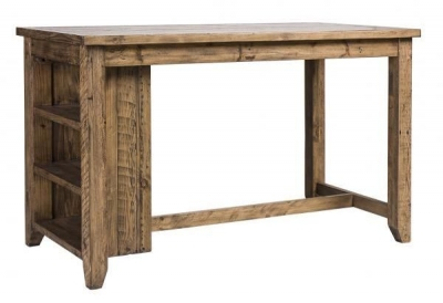 Rustic Reclaimed Pine Industrial Counter Table