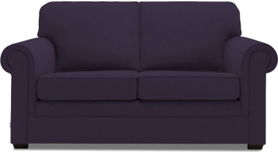 Jay-Be Classic Pocket Sprung 2 Seater Fabric Sofa Bed - Aubergine