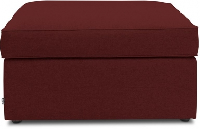 Jay-Be Footstool Airflow Fibre Mattress Fabric Bed - Berry
