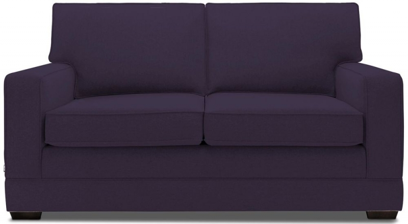 Jay-Be Modern Pocket Sprung 2 Seater Fabric Sofa Bed - Aubergine