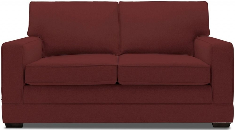 Jay-Be Modern Pocket Sprung 2 Seater Fabric Sofa Bed - Berry