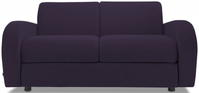 Jay-Be Retro Deep Sprung Mattress 2 Seater Fabric Sofa Bed - Aubergine