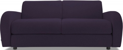 Jay-Be Retro Deep Sprung Mattress 3 Seater Fabric Sofa Bed - Aubergine