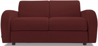 Jay-Be Retro Deep Sprung Mattress 2 Seater Fabric Sofa Bed - Berry