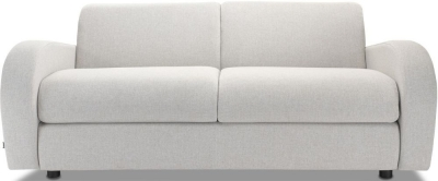Jay-Be Retro Deep Sprung Mattress 3 Seater Fabric Sofa Bed - Stone