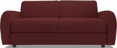 Jay-Be Retro Luxury Reflex Foam 3 Seater Fabric Sofa - Berry