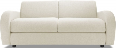 Jay-Be Retro Luxury Reflex Foam 3 Seater Fabric Sofa - Cream