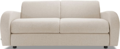 Jay-Be Retro Luxury Reflex Foam 3 Seater Fabric Sofa - Mink