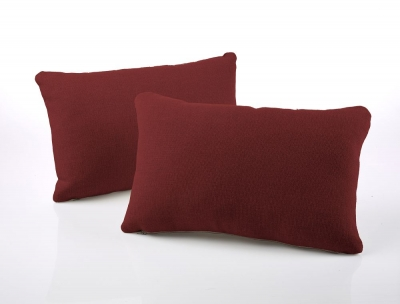 Jay-Be Rectangular Scatter Cushion (Pair) - Cranberry