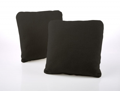 Jay-Be Square Scatter Cushion (Pair) - Charcoal