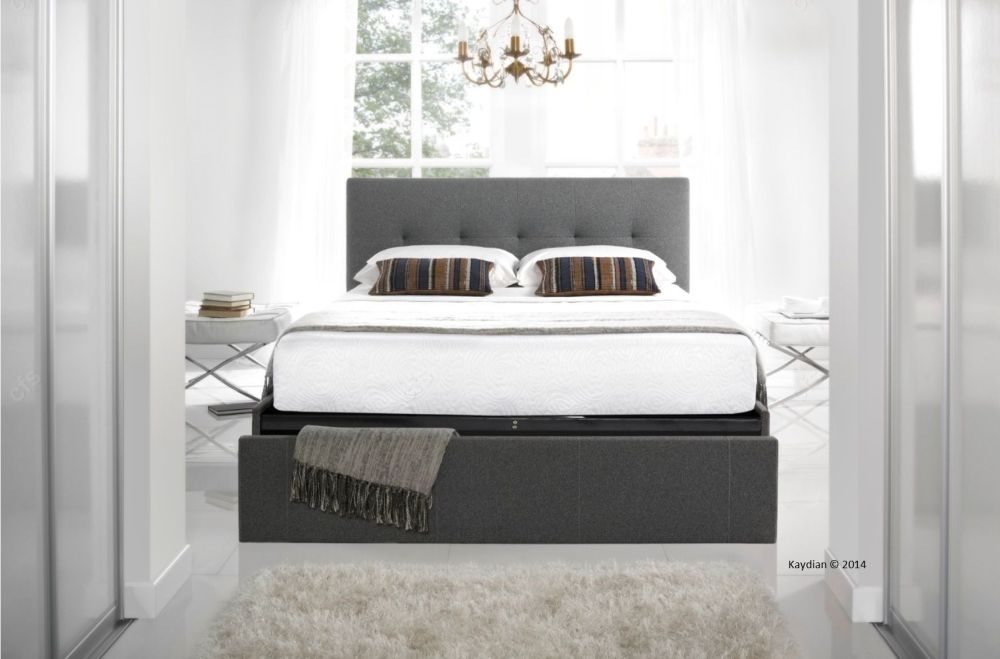 Hexham Fabric Storage Bed - Smoke