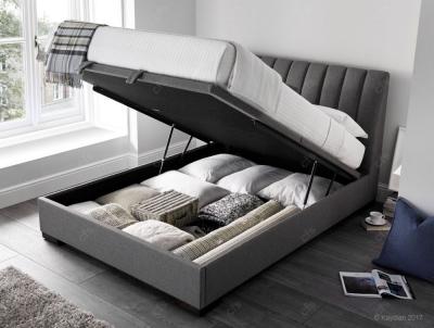 Lanchester Ottoman Fabric Storage Bed - Artemis Elephant Grey