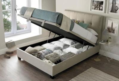 Walkworth Ottoman Fabric Storage Bed - Oatmeal