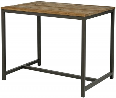 Vinton Industrial Elm Wood Bar Table