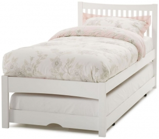 Rio Heavy Wood Opal White Guest Bed