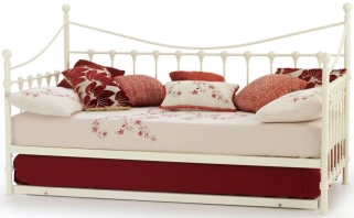 Gladstone Ivory Metal Day Bed with Guest Bed