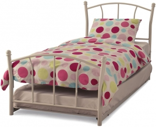 Lawson White Metal Guest Bed