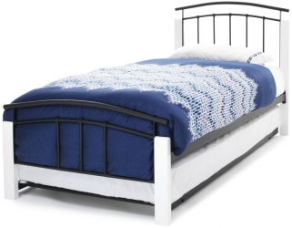 Dione Metal Guest Bed - White and Black