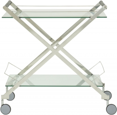 Angelillo Glass and Silver Drinks Trolley
