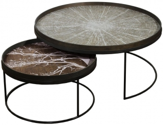 Extra Large Low Round Tray Table Set