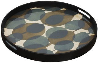 Connected Dots Small Round Glass Tray