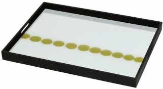 Dotted Line Small Rectangular Glass Tray